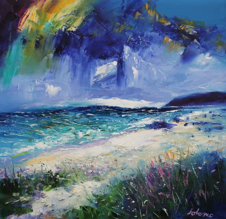 The Singing Sands of Islay Big Sea by John Lowrie Morrison -  sized 24x24 inches. Available from Whitewall Galleries